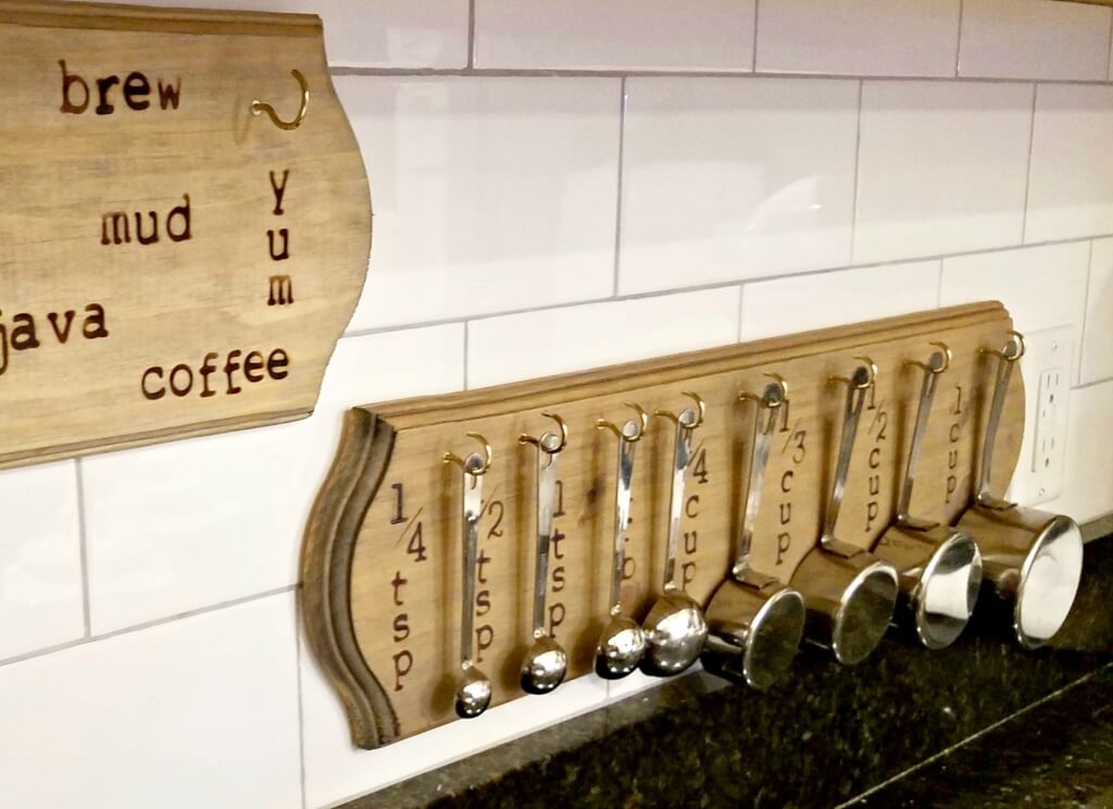 DIY Farmhouse Style Mug or Measuring Spoon Holder With Step-By-Step Tutorial