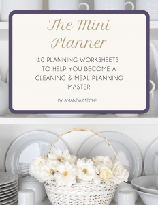 join the modern nest community and receive our mini planner, which comes complete with my cleaning checklists