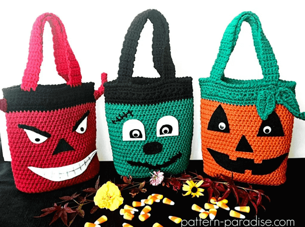 halloween crochet bag patterns by pattern paradise