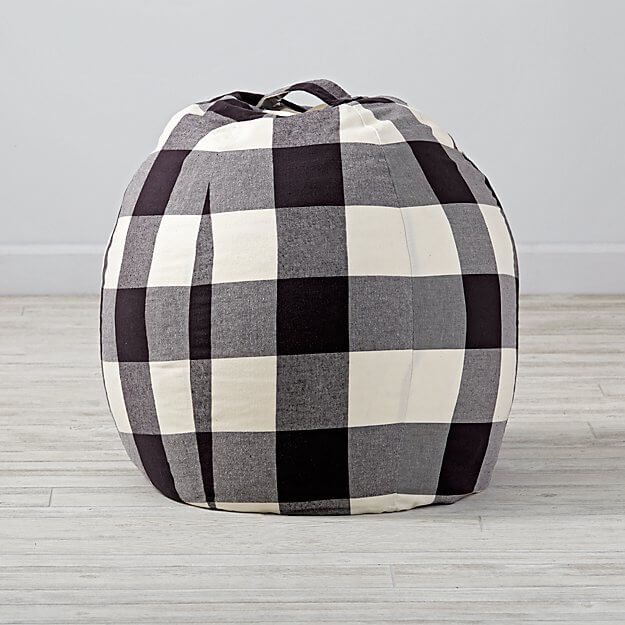 buffalo check home decor- bean bag chair cover