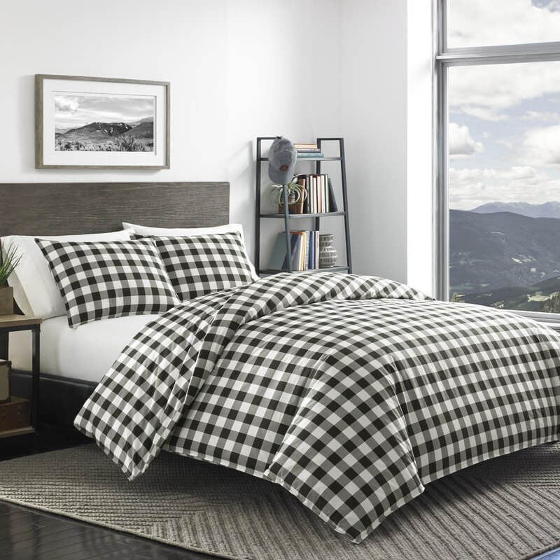 buffalo check home decor- duvet cover set