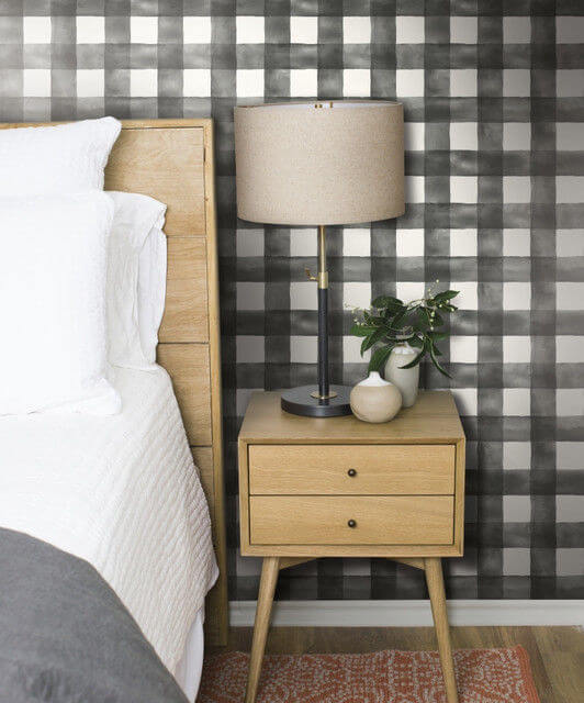magnolia home buffalo check wallpaper