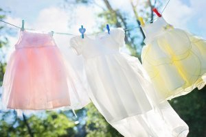 Practical Laundry Management Tips - girls clothes on clothesline