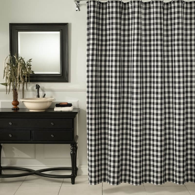 buffalo check home decor-shower curtain