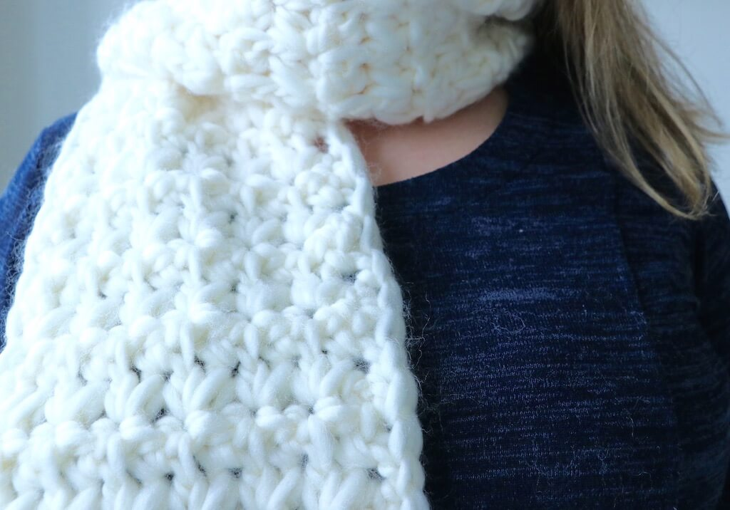 Snowflake Scarf Crochet Pattern The Modern Nest