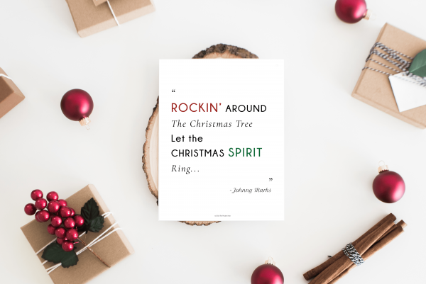 printable holiday planner christmas quote mockup