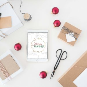 2018 holiday planner mockup