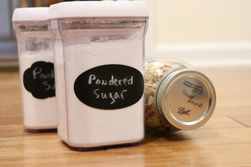 how to organize a lazy susan-label