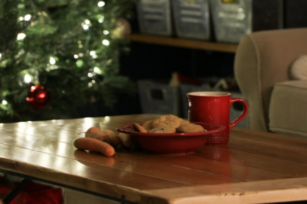christmas home tour 2017- cookies milk and carrots