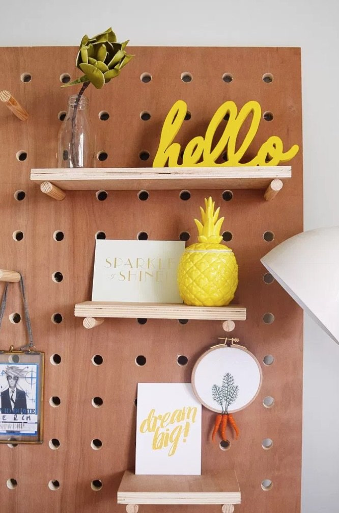 How to Organize and Decorate Any Space with Pegboard- diy pegboard