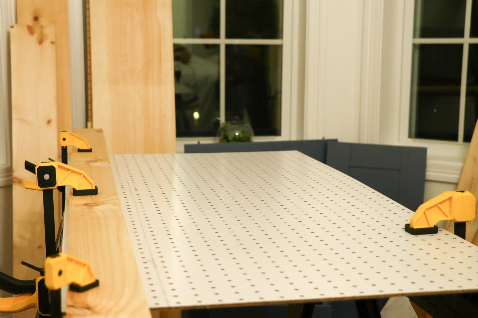 diy craft corner bar pegboard prep