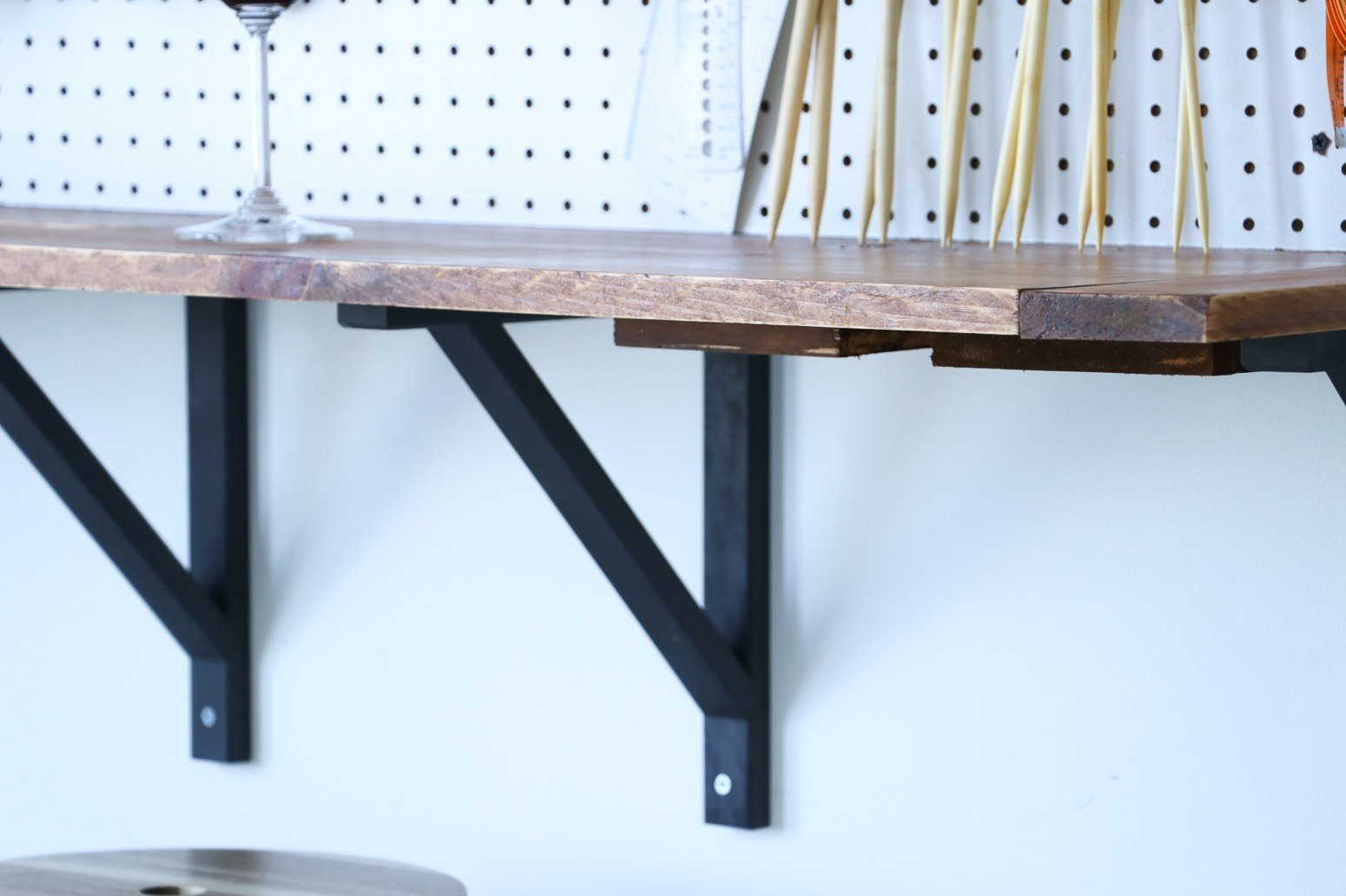 diy craft corner bar brackets