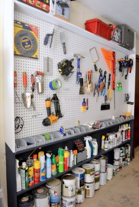 How to Organize and Decorate Any Space with Pegboard-garage pegboard