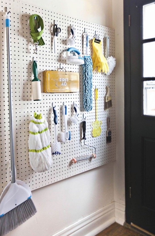 How to Organize and Decorate Any Space with Pegboard-laundry room organization
