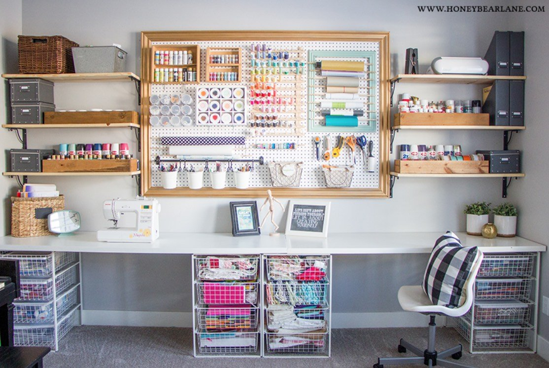 How to Organize and Decorate Any Space with Pegboard-craft room organizing
