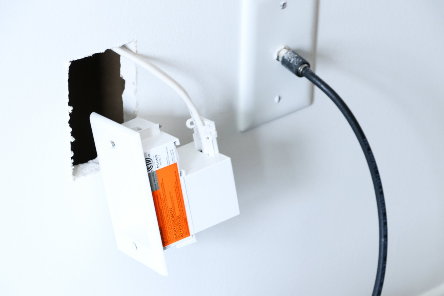 How to Hide TV Wires in the Wall - The Modern Nest