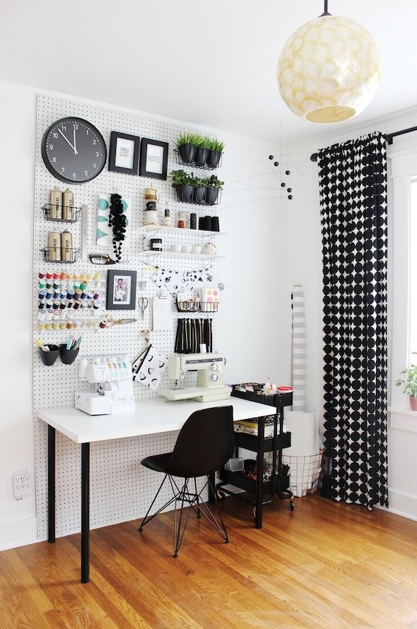 How to Organize and Decorate Any Space with Pegboard-workspace