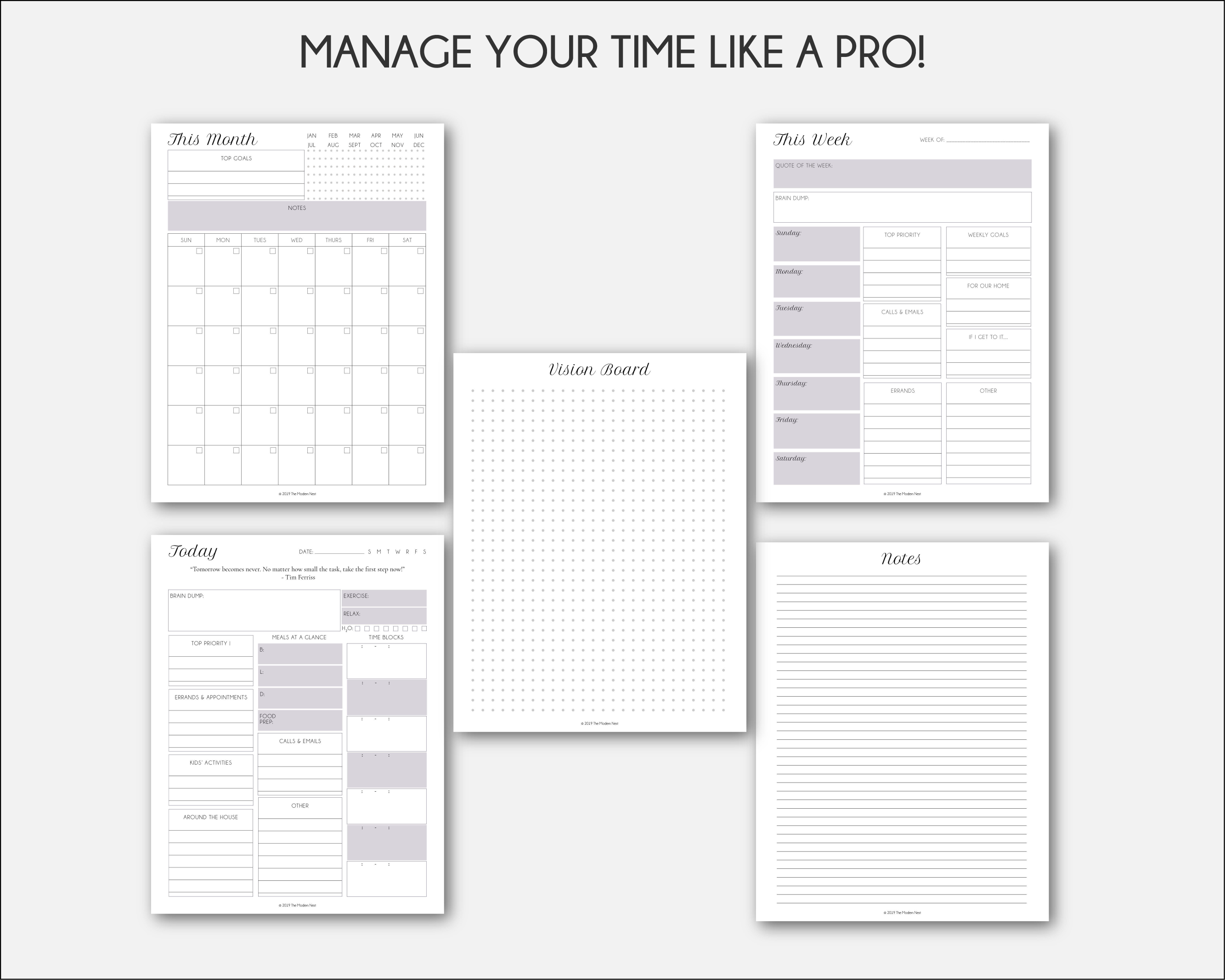 photo about Brain Dump Printable titled Printable Planner Principles Package