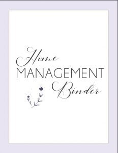 home management binder starter kit