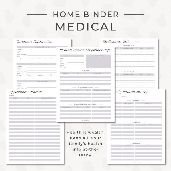 home binder master kit medical